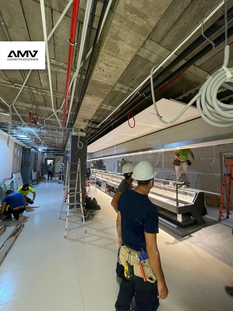 Grandes Superficies, Obra de reforma integral de hiperdino Guimar Pueblo en Santa Cruz de Tenerife, AMV Construcciones